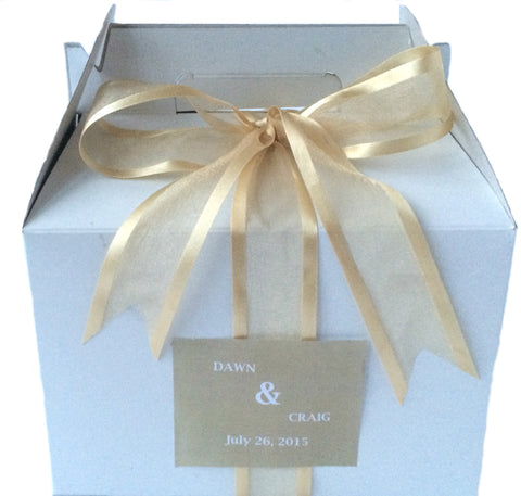 MPS Original Gold Welcome Box (White/Gable) - My Party Saver. Your Guest's Best Friend.™