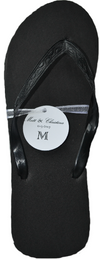 Classic Black Men's Flip Flop with Satin Organza Ribbon - My Party Saver. Your Guest's Best Friend.™