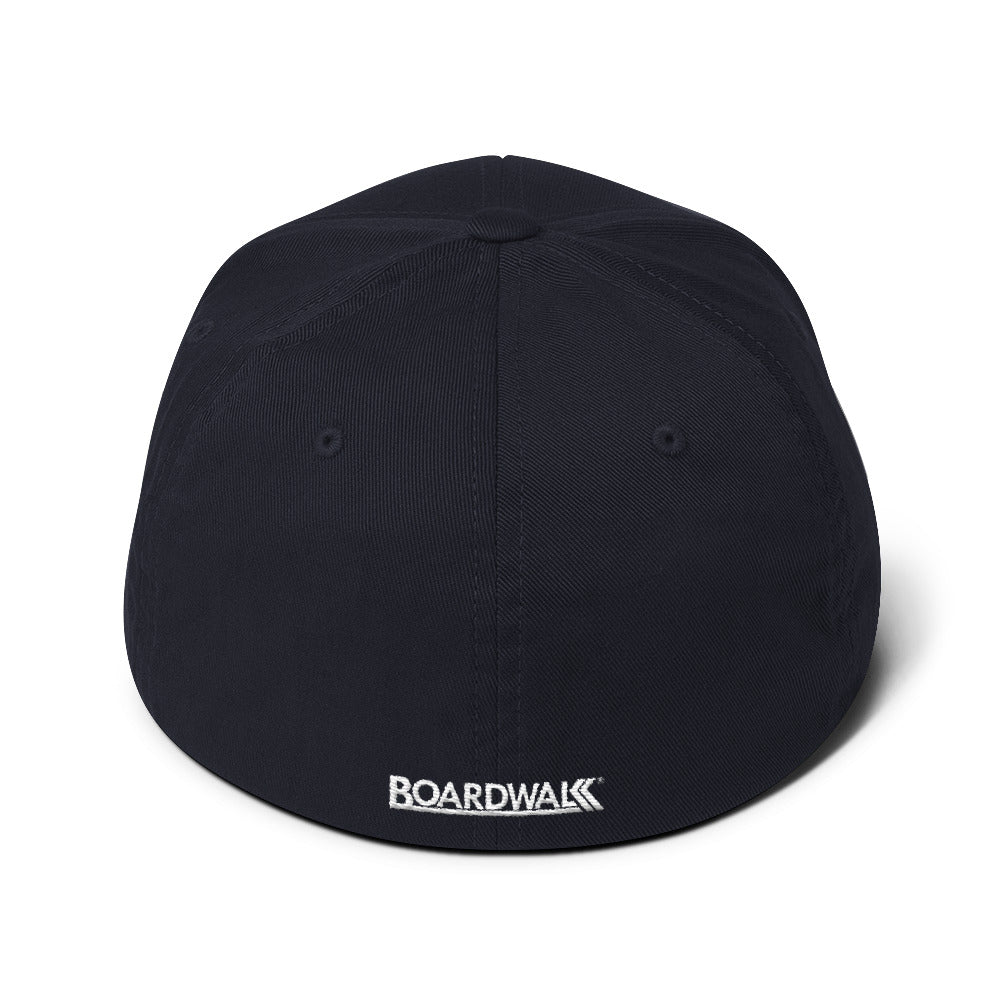 "Boardwalk ""Cali-Bars"" Flex-Fit Cap (White Thread)"