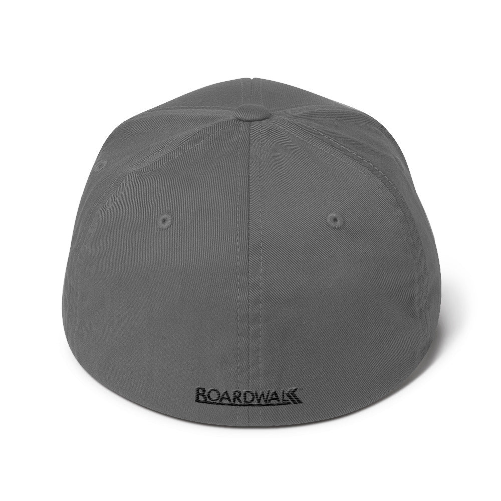 "Boardwalk ""Cali-Bars"" Flex-Fit Cap (Black Thread)"
