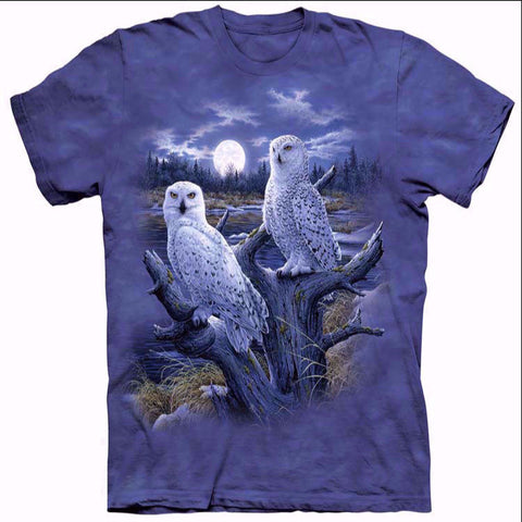 Beautiful Moonlit Night Owls T-Shirt