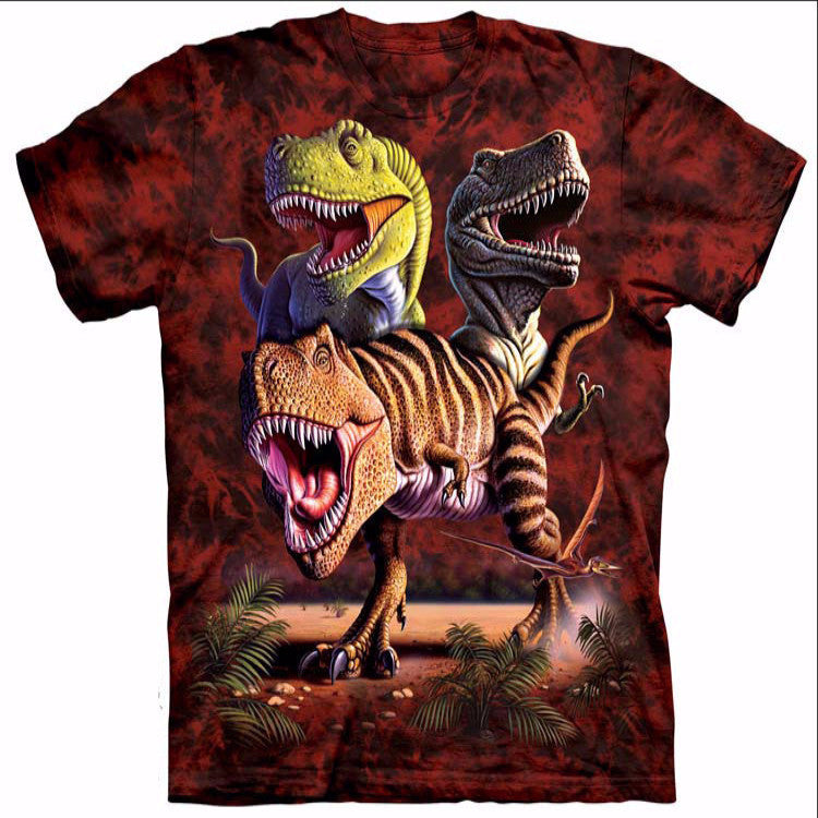 Colorful T-Rex Crew