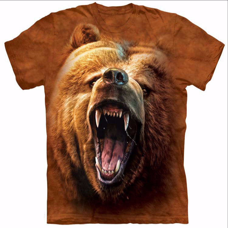 Growling Brown Bear T-Shirt