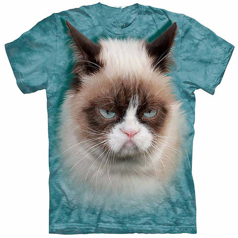 Unique Staring Grumpy Cat T-Shirt