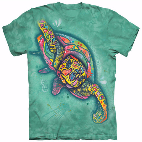 Colorful Sea Turtle Cool Design
