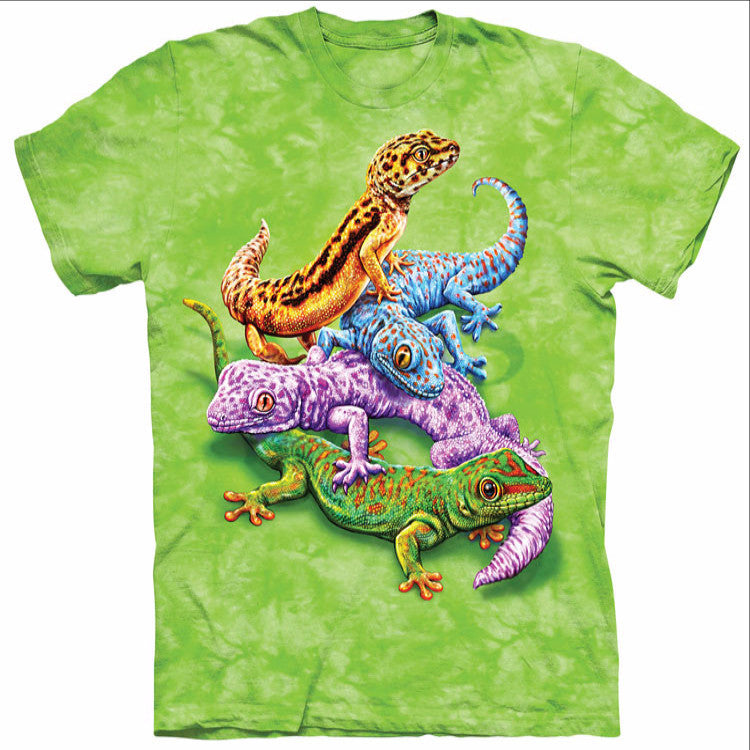 Intertwined Colorful Geckos T-Shirt