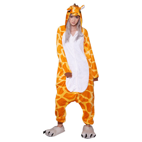 Giraffe Onesie - Adult Soft Plush Pajama