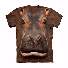 Unique Staring Hippo T-Shirt