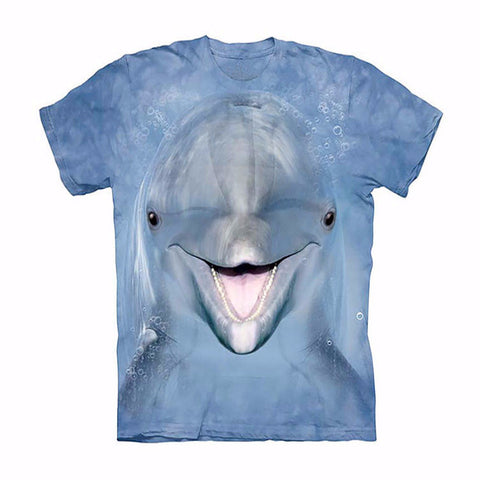 Unique Happy Dolphin T-shirt