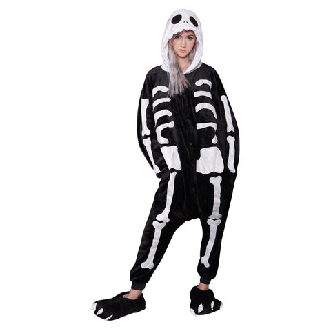 Skeleton Onesie - Adult Soft Plush Pajama