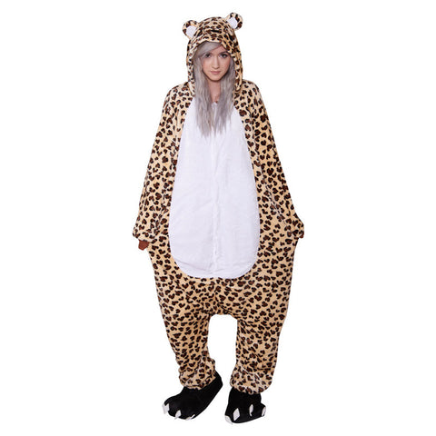 Leopard Onesie - Adult Soft Plush Pajama