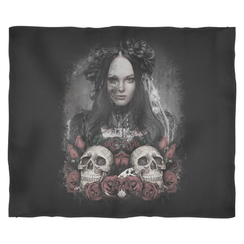 The Lady Skull Blanket