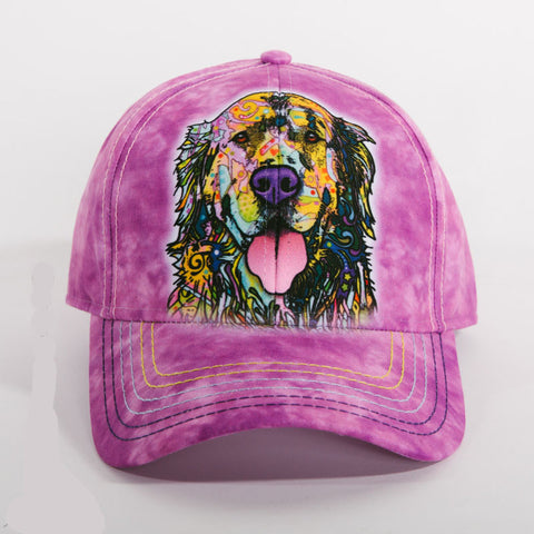 Colorful Golden Retriever