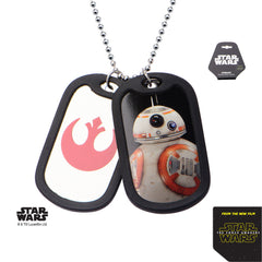 Star Wars Men's BB-8 Double Dog Tag Pendant Necklace