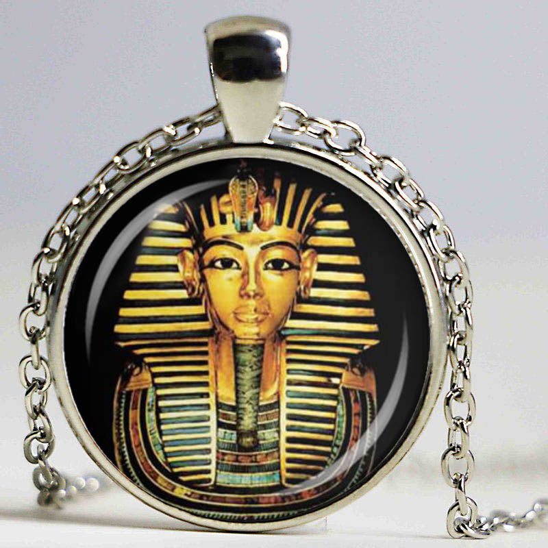 Egyptian pharaoh glass dome pendant necklace cool tees and gear egyptian pharaoh glass dome pendant necklace aloadofball Image collections