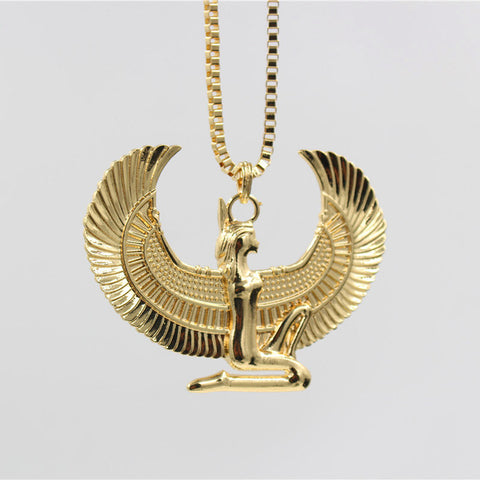 products falcon of horus pendant egyptian golden amulet trendibly necklace