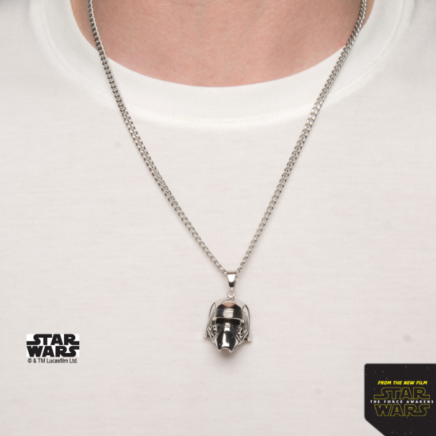 Star Wars Men's Kylo Ren 3D Pendant Necklace