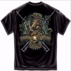 First In Last Out Marine Corps Shirt