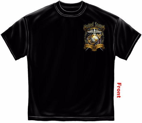 USMC Shirt with Foil Stamping