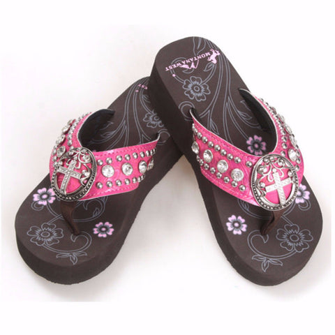 Hot Pink Super Cool Ladies Cross Sandals