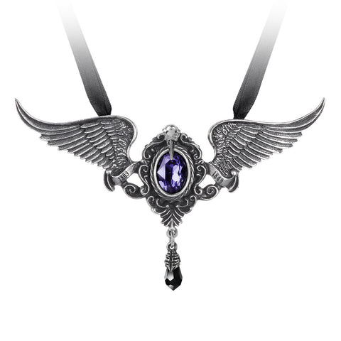 Goth-Winged Necklace