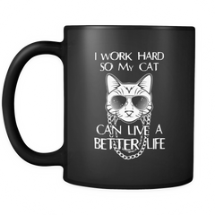 Cat Lives Better Life Mug