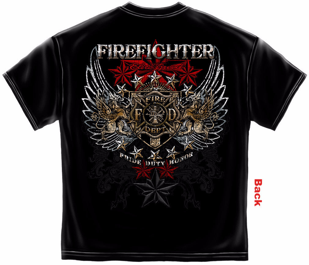 Elite Breed Firefighter with Foil Stamping