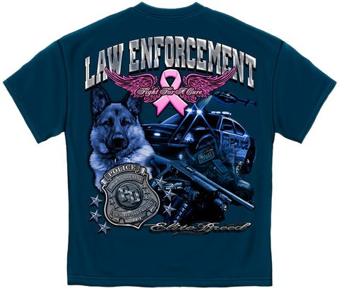 Law Enforcement for the Cure with Foil Stamping