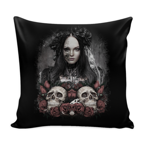The Lady Skull Pillowcase