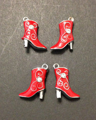 Super Cute Line Dancing Boot Necklace