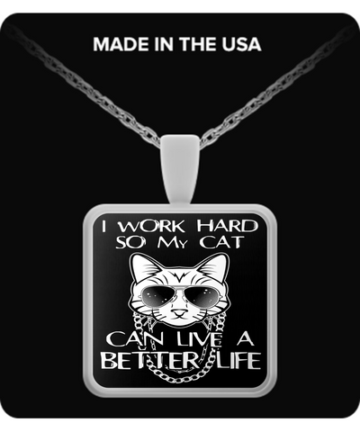 Cat Lives Better Life Necklace
