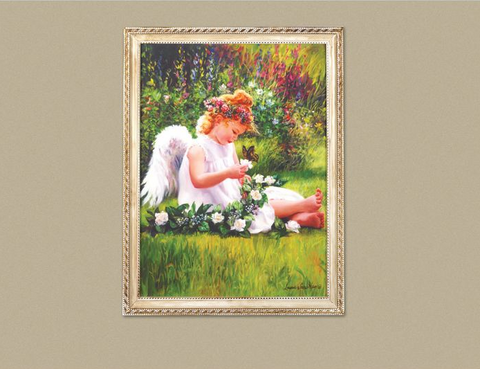 Garden Angel Wall Art Framed Picture