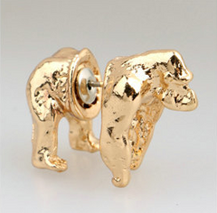 Awesome Gold Or Black Gorilla Earrings
