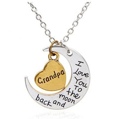 Awesome Grandma To The Moon And Back Necklace