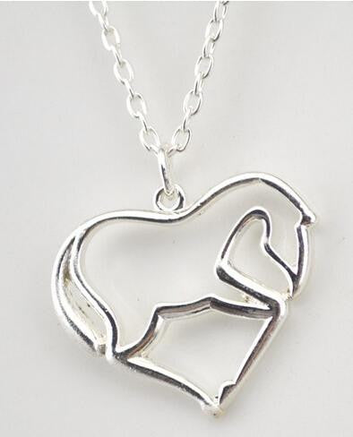 Wonderful Silver Horse Heart Necklace