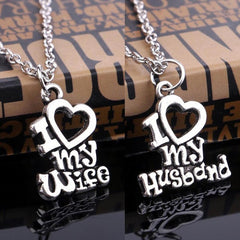 I Love My Husband/Wife Pendant and Necklace