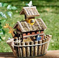 Delightful Noah's Ark Wooden Bird House