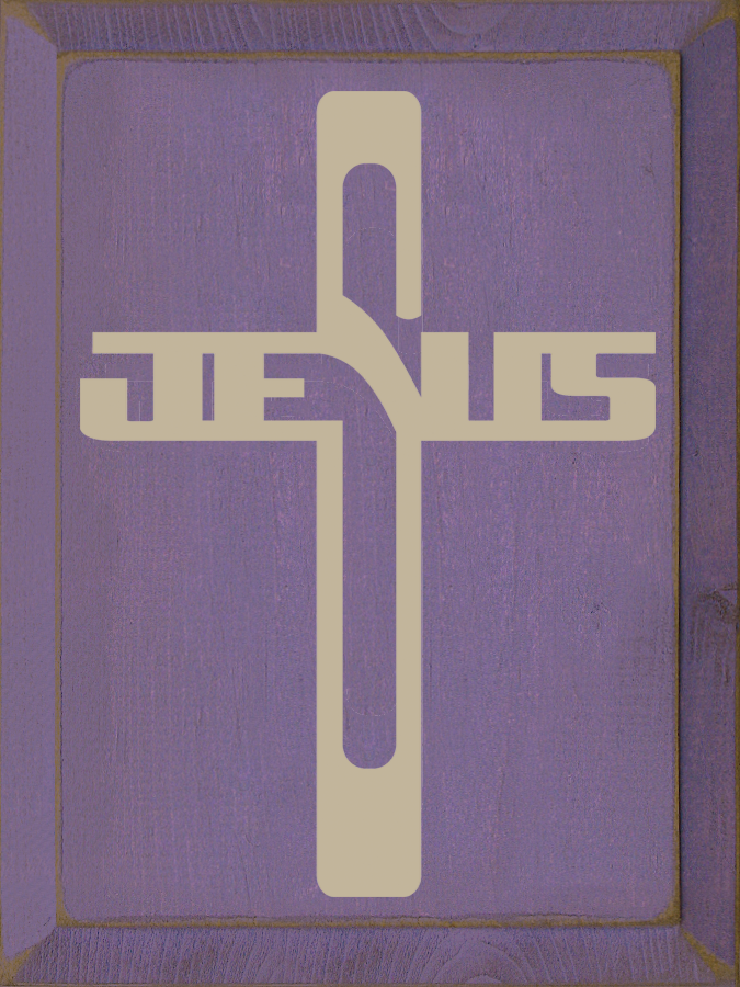 Jesus Cross Wooden Sign