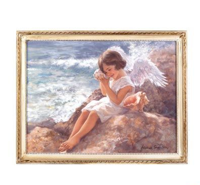 Seaside Angel Wall Art Framed Picture