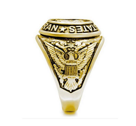 Ion Plated US Military Veteran Ring