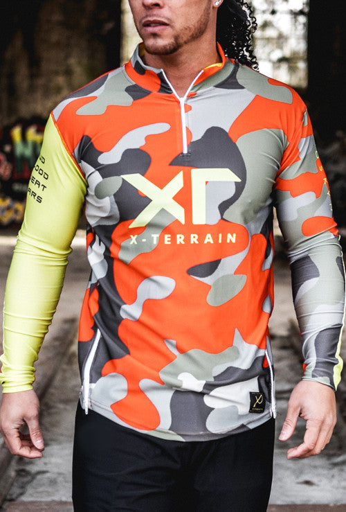 MEN'S EXOSKYN X-TERRAIN OCR LONG-SLEEVED COMPRESSION SHIRT - MUD/BLOOD/SWEAT/TEARS