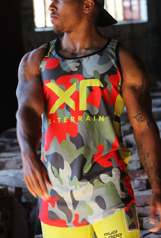 MEN'S EXOSKYN X-TERRAIN OCR COMPRESSION TANK-TOP - MUD/BLOOD/SWEAT/TEARS