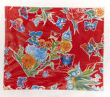 PLACEMAT-Red Floral with Black Toile
