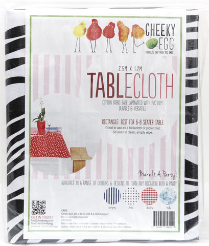 Tablecloths with Zebra Stripes