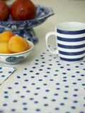 PLACEMAT-Blue Stripe with Dots