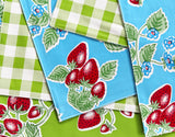 PLACEMAT-Red Chilli on White with Yellow Checks
