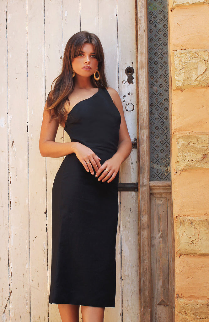 Lila Midi Dress Black