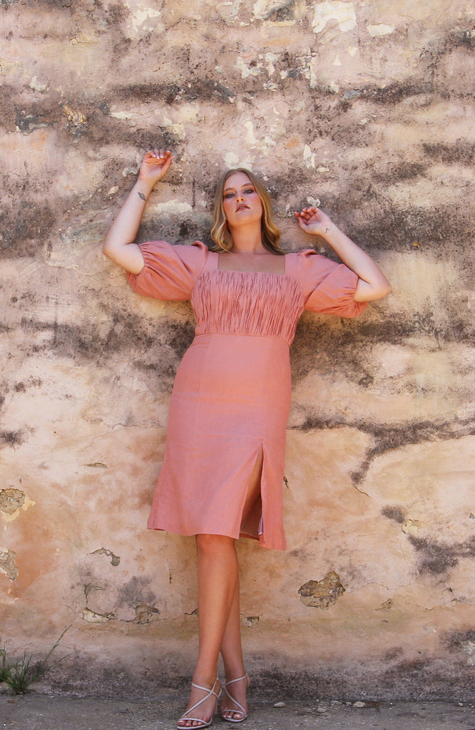 Paloma Dress Peach