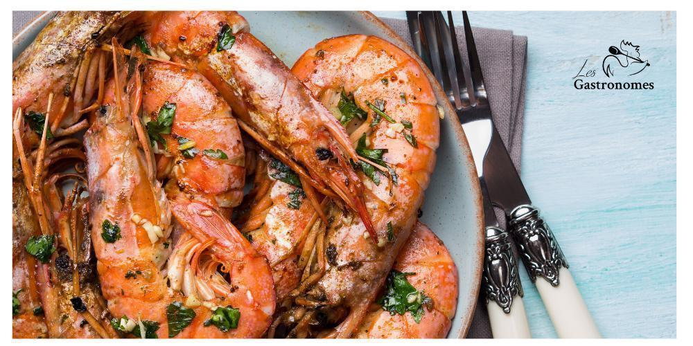 Black Tiger Prawns with Garlic & Parsley Butter | Les Gastronomes