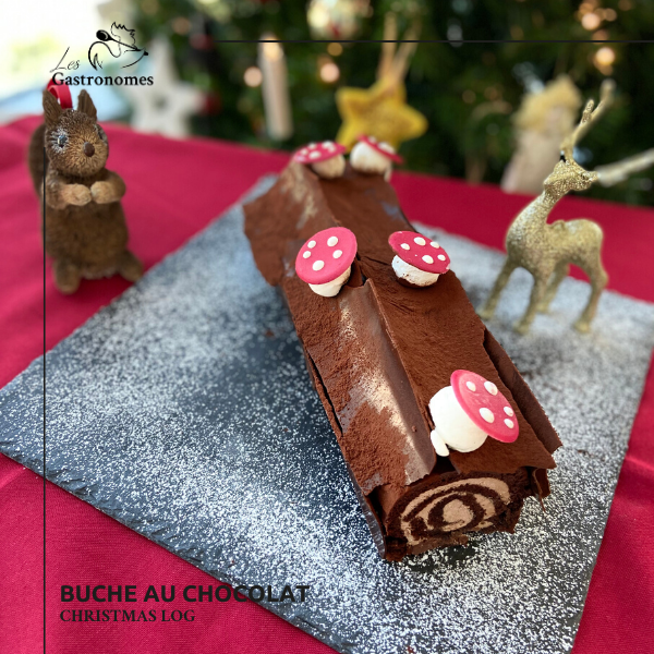 Christmas Chocolate Buche